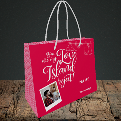 Picture of Love Island Reject, Valentine's Design, Small Landscape Gift Bag