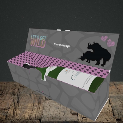 Picture of Let's Get Wild(Without Photo), Valentine's Design, Lay-down Bottle Box