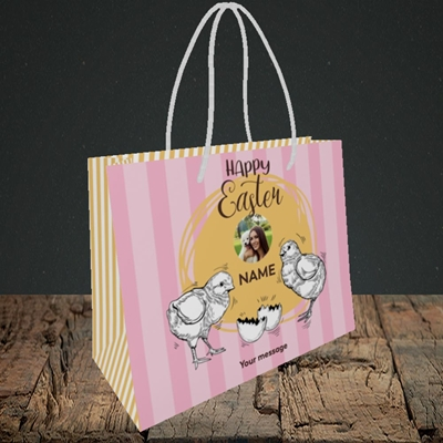 Picture of Little Chicks, Easter Design, Small Landscape Gift Bag