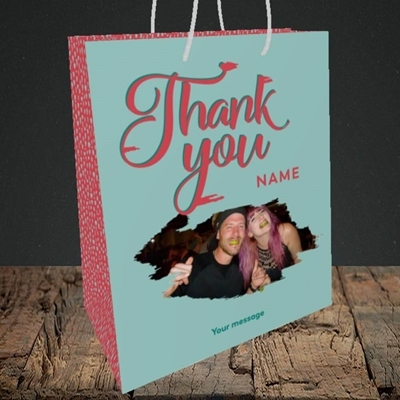 Picture of Paint Swatch, Thank You Design, Medium Portrait Gift Bag