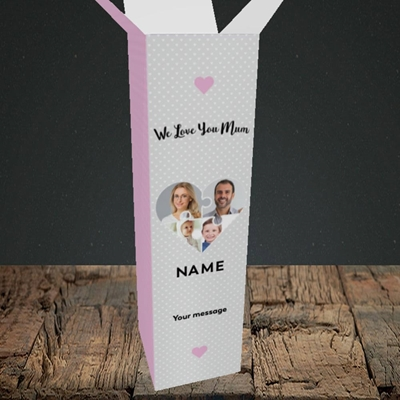 Picture of Love You Mum-Puzzle, Mother's Day Design, Upright Bottle Box