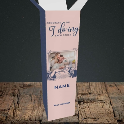 Picture of I Do-ing, Wedding Design, Upright Bottle Box