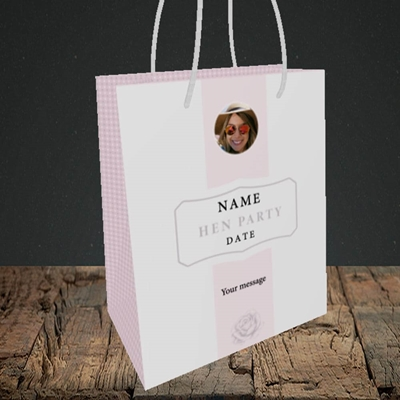 Picture of Elegance Of Rose - Pink, Wedding Design, Small Portrait Gift Bag
