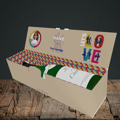 Picture of Let's Love Let's Dance, Valentine's Design, Lay-down Bottle Box