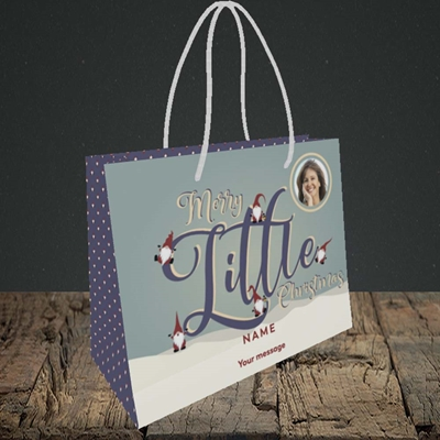 Picture of Merry Little Christmas, Christmas Design, Small Landscape Gift Bag