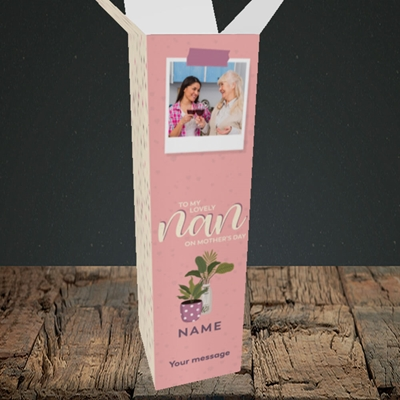 Picture of Lovely Nan, Mother's Day Design, Upright Bottle Box