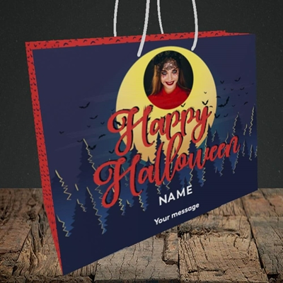 Picture of Spooky Forest, Halloween Design, Medium Landscape Gift Bag