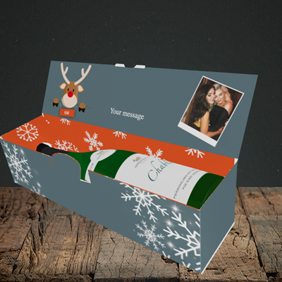 Picture of Naughty, Christmas Design, Lay-down Bottle Box