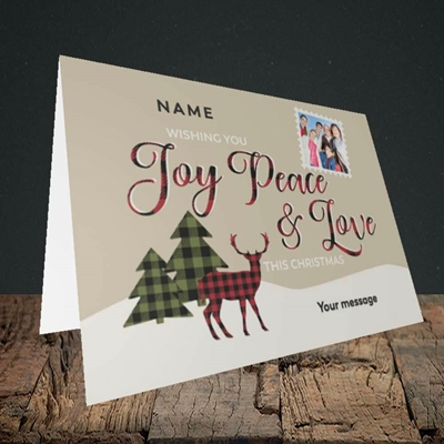 Picture of Joy Peace & Love, Christmas Design, Landscape Greetings Card