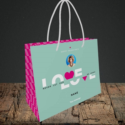 Picture of Never Let Our Love Be Apart, Valentine's Design, Small Landscape Gift Bag