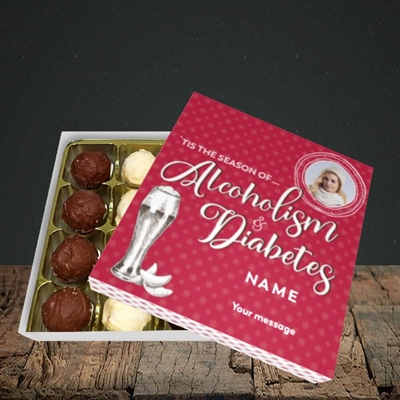 Picture of Alcoholism & Diabetes, Christmas Design, Choc 16