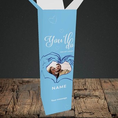 Picture of You'll Do For A Bit Longer, Anniversary Design, Upright Bottle Box