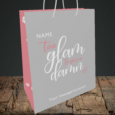 Picture of Glam, (Without Photo) Birthday Design, Medium Portrait Gift Bag