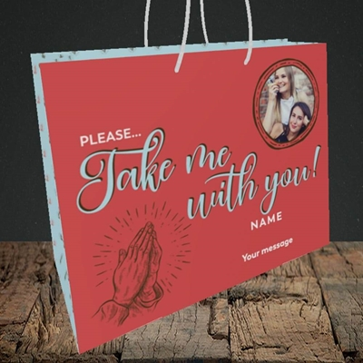 Picture of Take Me With You, Leaving Design, Medium Landscape Gift Bag