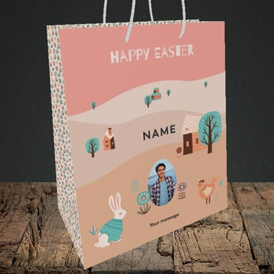 Picture of Easter Farm, Easter Design, Medium Portrait Gift Bag
