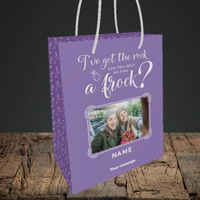 Picture of Got The Rock, Wedding Design, Small Portrait Gift Bag