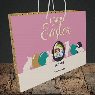 Picture of Four Bunnies, Easter Design, Medium Landscape Gift Bag
