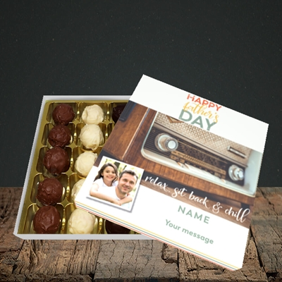 Picture of Retro Radio, Father's Day Design, Choc 25