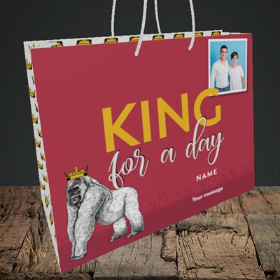 Picture of King For A Day, Father's Day Design, Medium Landscape Gift Bag