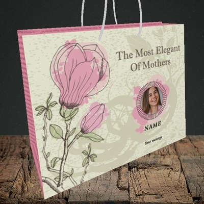 Picture of Elegant Mothers, Mother's Day Design, Medium Landscape Gift Bag