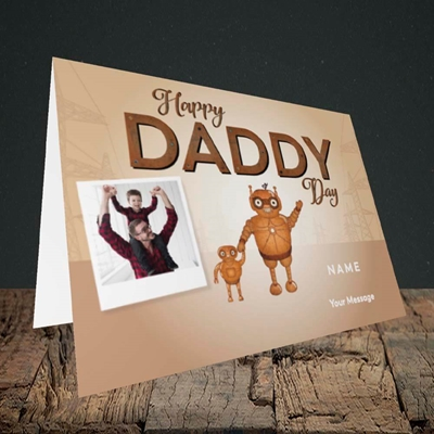 Picture of Daddy Robot, Father's Day Design, Landscape Greetings Card