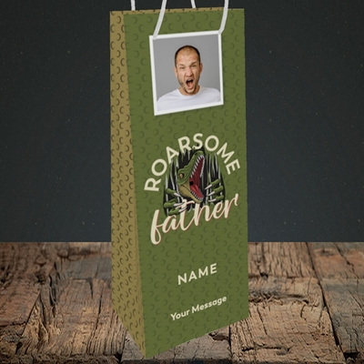 Picture of Roarsome Father, Father's Day Design, Bottle Bag