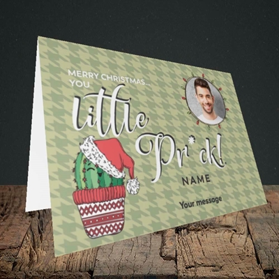 Picture of Christmas Pr*ck, Christmas Design, Landscape Greetings Card