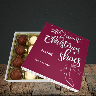 Picture of Christmas Shoes(Without Photo), Christmas Design, Choc 16