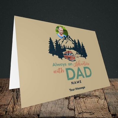 Picture of Camper Van With Dad, Father's Day Design, Landscape Greetings Card