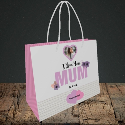 Picture of I Love You Mum, Mother's Day Design, Small Landscape Gift Bag