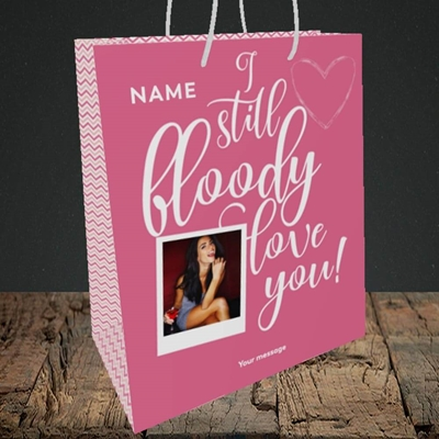 Picture of I Still Bloody Love You, Anniversary Design, Medium Portrait Gift Bag