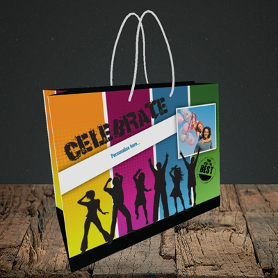 Picture of Silhouette, Celebration Design, Small Landscape Gift Bag