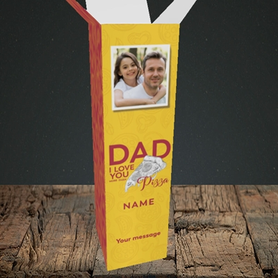 Picture of Love You More Than Pizza, Father's Day Design, Upright Bottle Box