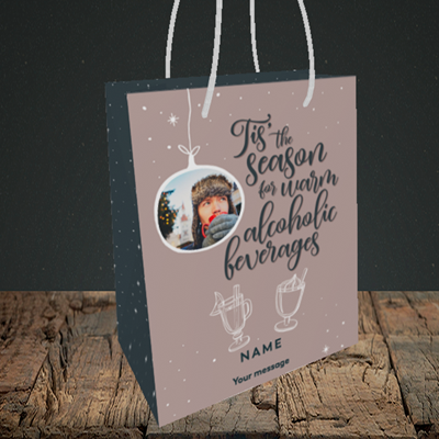 Picture of Tis The Season, Christmas Design, Small Portrait Gift Bag