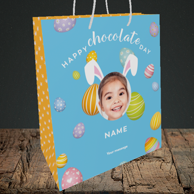Picture of Chocolate Day, Easter Design, Medium Portrait Gift Bag