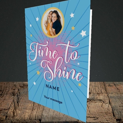Picture of Time To Shine, Good Luck Design, Portrait Greetings Card