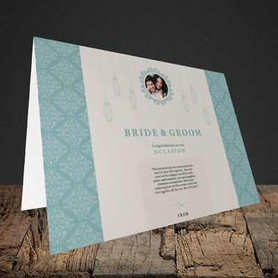 Picture of Moroccan Influences Teal B&G, Wedding Design, Landscape Greetings Card