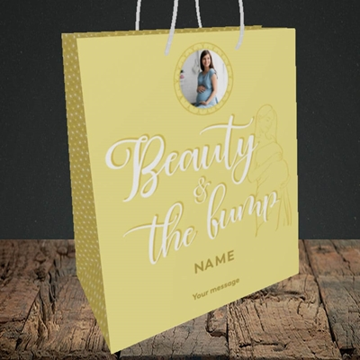 Picture of Beauty & The Bump, Pregnancy Design, Medium Portrait Gift Bag