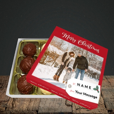 Picture of 1. A Merry Christmas, Large Photo, Christmas Design, Choc 9