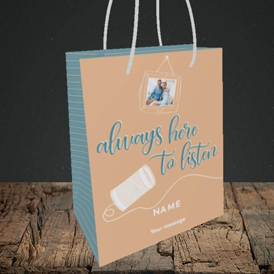 Picture of Always Here, Thinking of You Design, Small Portrait Gift Bag