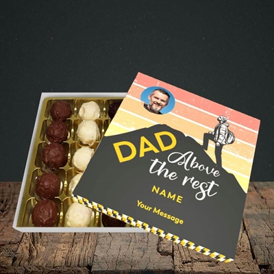 Picture of Dad Above The Rest, Father's Day Design, Choc 25