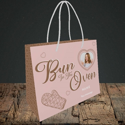 Picture of Bun In The Oven, Pregnancy Design, Small Landscape Gift Bag