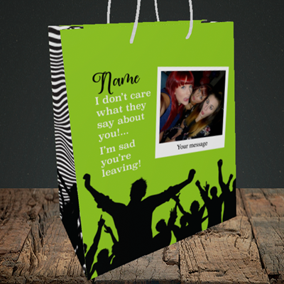 Picture of Crowd, Leaving Design, Medium Portrait Gift Bag