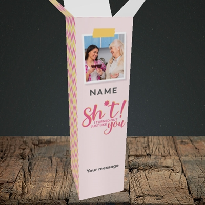 Picture of Just Like You!, Mother's Day Design, Upright Bottle Box