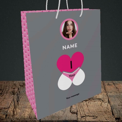 Picture of I Love Your Bum, Valentine's Design, Medium Portrait Gift Bag