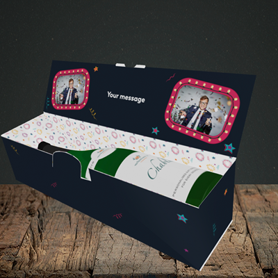 Picture of Midnight Kisses, New Year Design, Lay-down Bottle Box