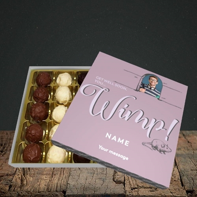 Picture of Wimp!, Get Well Soon Design, Choc 25