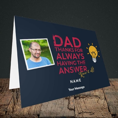 Picture of Know It All, Father's Day Design, Landscape Greetings Card