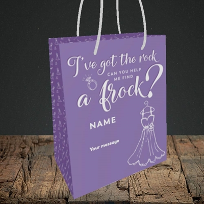 Picture of Got The Rock(Without Photo), Wedding Design, Small Portrait Gift Bag