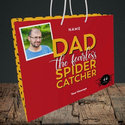 Picture of Spider Catcher, Father's Day Design, Medium Landscape Gift Bag